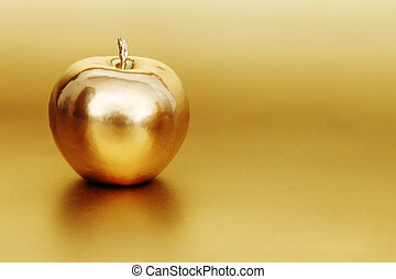 oro, manzana