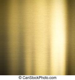 oro, metal, bronce, plano de fondo
