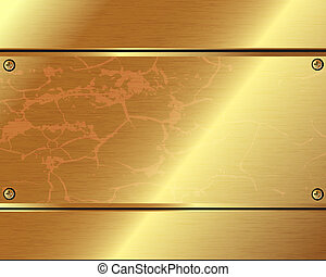 oro, metallico, fondo, astratto, piastre