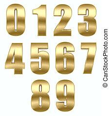 oro, metallo, numero