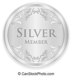 oro, miembro, insignia, con, dorado, vendimia, patrón