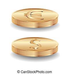 oro, monedas.