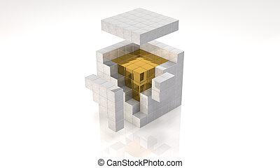 oro, núcleo