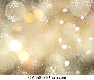 oro, navidad, copo de nieve, plano de fondo