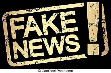 oro, noticias, texto, estampilla, falsificación