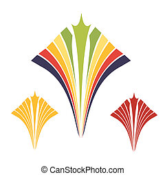 oro, ornamento, espiral, colorido, contemporáneo