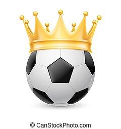 oro, palla, calcio, corona