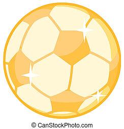 oro, palla, calcio