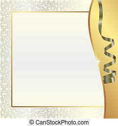 oro, perla, plano de fondo