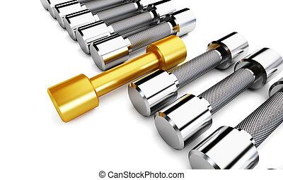 oro, pesas, condición física