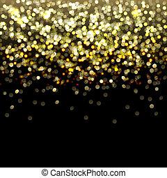 oro, resumen, defocused, plano de fondo