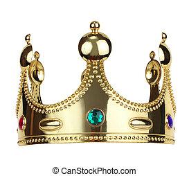oro, rey, corona
