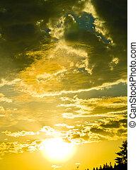 oro, salida del sol