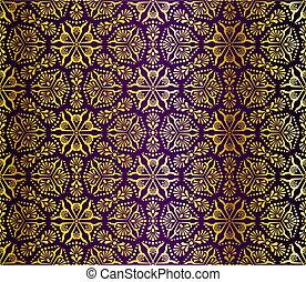 oro, seamless, púrpura, arabesco