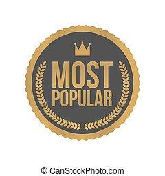 oro, segno, etichetta, la maggior parte, vettore, popolare, ...