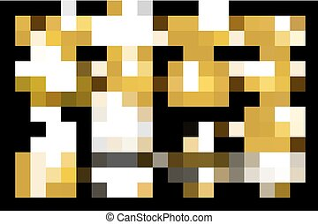 oro, set., labbra, disegno, brillare, element.