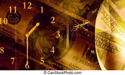oro, soldi, tabelle, e, grafici, cappio