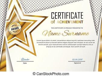 oro, star., oro, emblema, disegno, trasparente, ufficiale, ...
