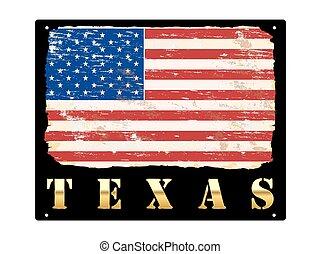 oro, texas, smalto, segno
