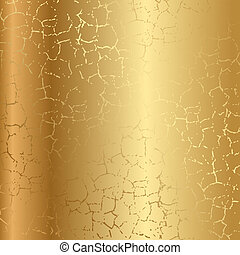 oro, textura, con, grietas