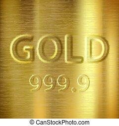 oro verghe, con, uno, stamp., prezioso, fondo., casato, vettore, malato