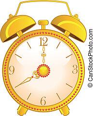 orologio, allarme, classico
