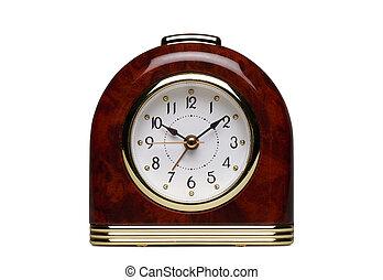 orologio, allarme, isolato, juke-box, bianco, speciale