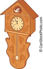 orologio cuculo legno