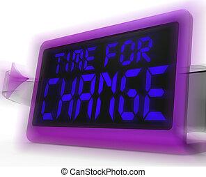 orologio, digitale, strategia, tempo, andare, nuovo, mostra...