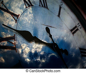 orologio, e, cielo