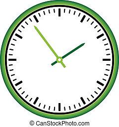 orologio, -, faccia, vettore, facile, tempo, cambiamento