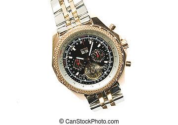 orologio, lusso, oro