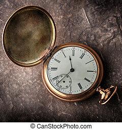 orologio oro, vecchio