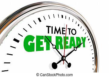 orologio, ottenere, apparecchiato, animazione, tempo,...