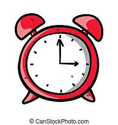 orologio, scarabocchiare