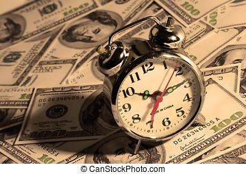 orologio, sopra, soldi