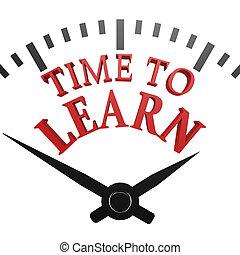 orologio, tempo, imparare