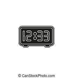 orologio, -, timer, conto alla rovescia, vettore, illustrazione, mostra digitale