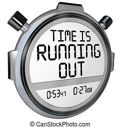 orologio, timer, correndo, tempo, cronometro, fuori