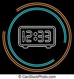 orologio, -, timer, vettore, illustrazione, mostra digitale