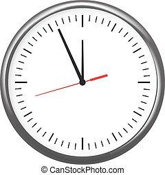 orologio ufficio, parete, verbale, esposizione, cinque,...