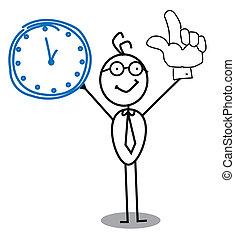 orologio, uomo affari