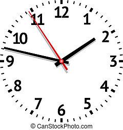 orologio, vettore