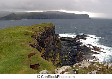 Oronsay with squally shower coming in