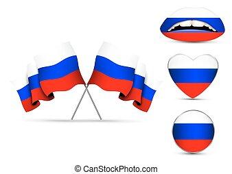 orosz, állhatatos, zászlók