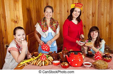 orosz, tea, ivás, nők