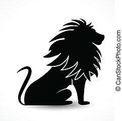 oroszlán, árnykép, jel