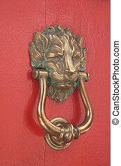 oroszlán, ajtó kopogtató
