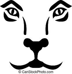oroszlán, arc