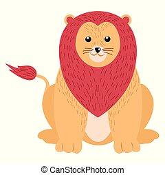 oroszlán, white háttér, elszigetelt